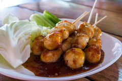 Thai style pork meatball Royalty Free Stock Image
