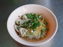 Thai style pork noddle Royalty Free Stock Photo