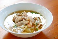 Thai style pork noodle soup Stock Photos