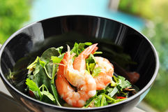 Thai style prawn salad Stock Photography
