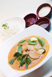 Thai Style Red Curry Chicken royalty free stock photo