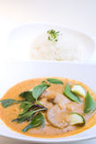 Thai Style Red Curry Chicken Stock Photography