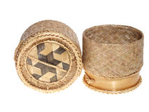 Thai style rice container Royalty Free Stock Images