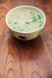 Thai style of rice gruel in bowl Royalty Free Stock Photo