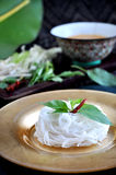 Thai Style Rice Noodle on Plate Stock Photos