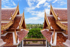 Thai style roof Royalty Free Stock Images