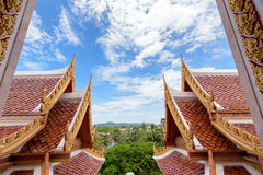 Thai style roof Royalty Free Stock Photo