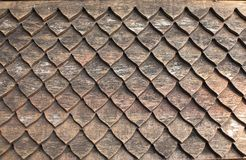 Clay tiles on Thai style roof royalty free stock images