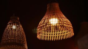 Thai style rustic lamp stock video
