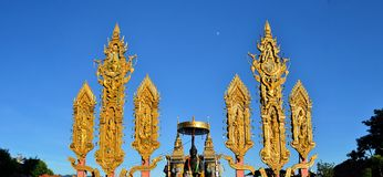 Thai style sacred shrine in a Buddhist temple Stock Photography
