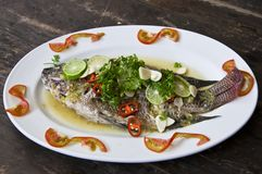 Thai style salad seafood Royalty Free Stock Photography