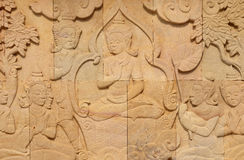 Thai style sandstone carving art Stock Photo