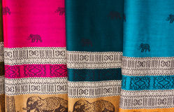 Thai style sarong in market Royalty Free Stock Photos