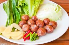 Thai style sausage Royalty Free Stock Image
