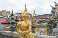 Thai Style Sculpture at Grand Palace Royalty Free Stock Photo