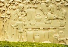 Thai style sculptures Stock Photos
