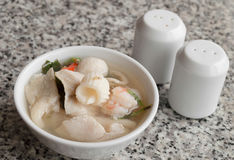 Thai style seafood spicy soup Royalty Free Stock Photography