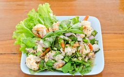 Thai style shrimp salad Stock Photography
