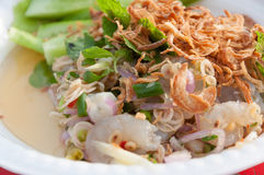 Thai style shrimp salad Royalty Free Stock Photography
