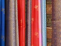 Thai style silk Stock Image