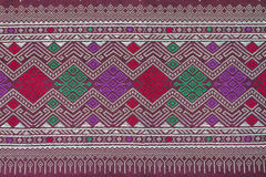Thai style silk cloth pattern Royalty Free Stock Photo