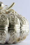 Thai style silver carving Stock Images