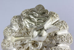 Thai style silver carving Royalty Free Stock Photos