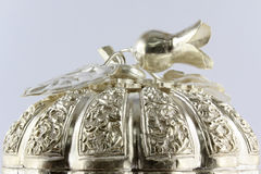 Thai style silver carving Stock Image