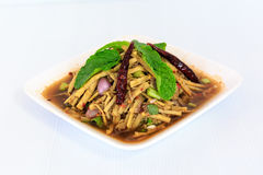 Thai Style Spicy Bamboo Shoot Salad Stock Image
