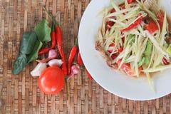 Thai style spicy food, Som Tum Thai. Royalty Free Stock Image
