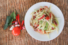 Thai style spicy food, Som Tum Thai. Royalty Free Stock Images