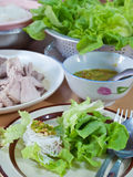 Thai style spicy salad Stock Photos