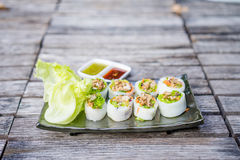 Thai Style Spicy Sushi Roll Royalty Free Stock Photo