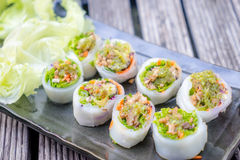 Thai style spicy sushi roll Stock Photography