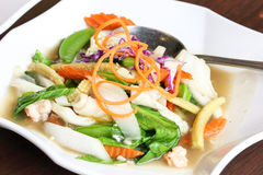 Thai style squid Stock Photography