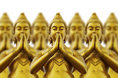 Thai style statues Stock Photo