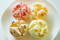 Thai style steamed cup cake Royalty Free Stock Photos