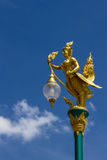 Thai style street lamp against blue sky. Thai art and Thai style street lamp against blue sky Stock Images