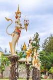 Thai style street lamp in kinaree shape Royalty Free Stock Photo