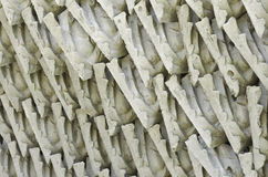 Thai style stucco. Stack of  Thai style stucco Stock Photography