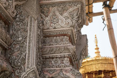 Thai style stucco texture. Royalty Free Stock Photography