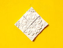 Thai style stucco. Traditional Thai style stucco texture Royalty Free Stock Image
