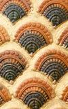 Thai style stucco. Traditional Thai style stucco texture Stock Photo