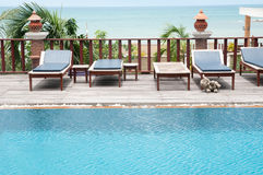 Thai style  swimming pool Stock Photo