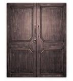 Thai style teakwood board door. Royalty Free Stock Photo