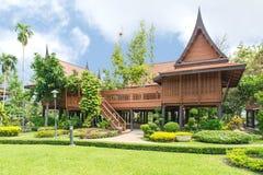 Thai style, Teakwood home in garden, Thailand Stock Photo