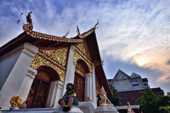 Thai Style Temple, Chiang Mai Stock Image
