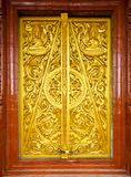 Thai style temple door Royalty Free Stock Images