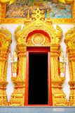 Thai style temple door Stock Photos