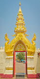Thai style temple door Royalty Free Stock Image